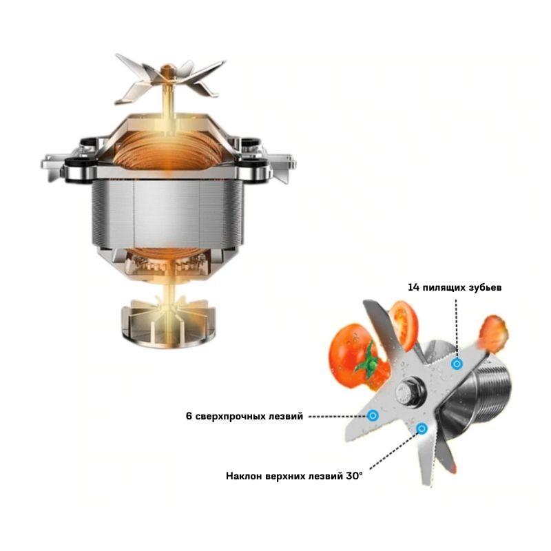 сенсорный блендер D6300 мотор и ножи